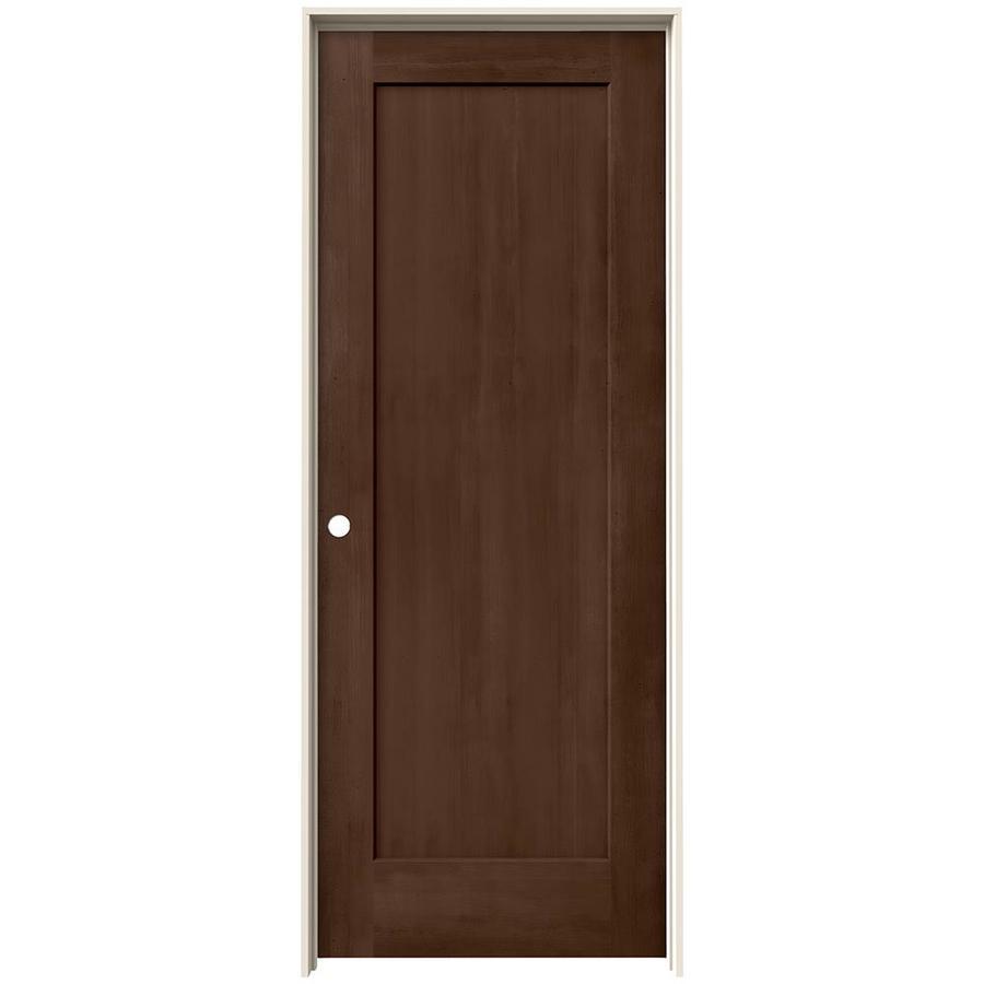 JELD-WEN View Milk Chocolate Solid Core Molded Composite Single Prehung Interior Door (Common: 24-in x 80-in; Actual: 25.562-in x 81.688-in)