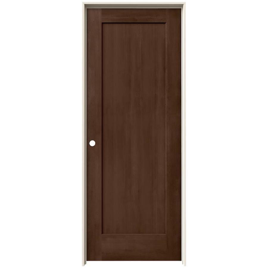 JELD-WEN View Milk Chocolate Solid Core Molded Composite Single Prehung Interior Door (Common: 30-in x 80-in; Actual: 31.562-in x 81.688-in)