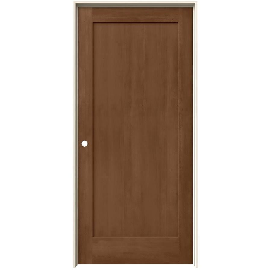 Shop Jeld Wen Woodview Hazelnut 1 Panel Single Prehung Interior Door Common 36 In X 80 In