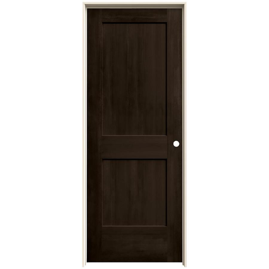 JELD-WEN Woodview Espresso 2-Panel Single Prehung Interior Door (Common: 24-in x 80-in; Actual: 25.562-in x 81.688-in)