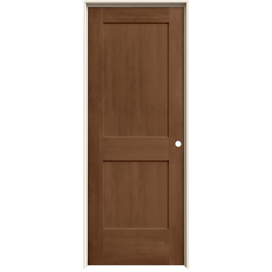 Shop Jeld Wen View Hazelnut Hollow Core Molded Composite Single Prehung Interior Door Common