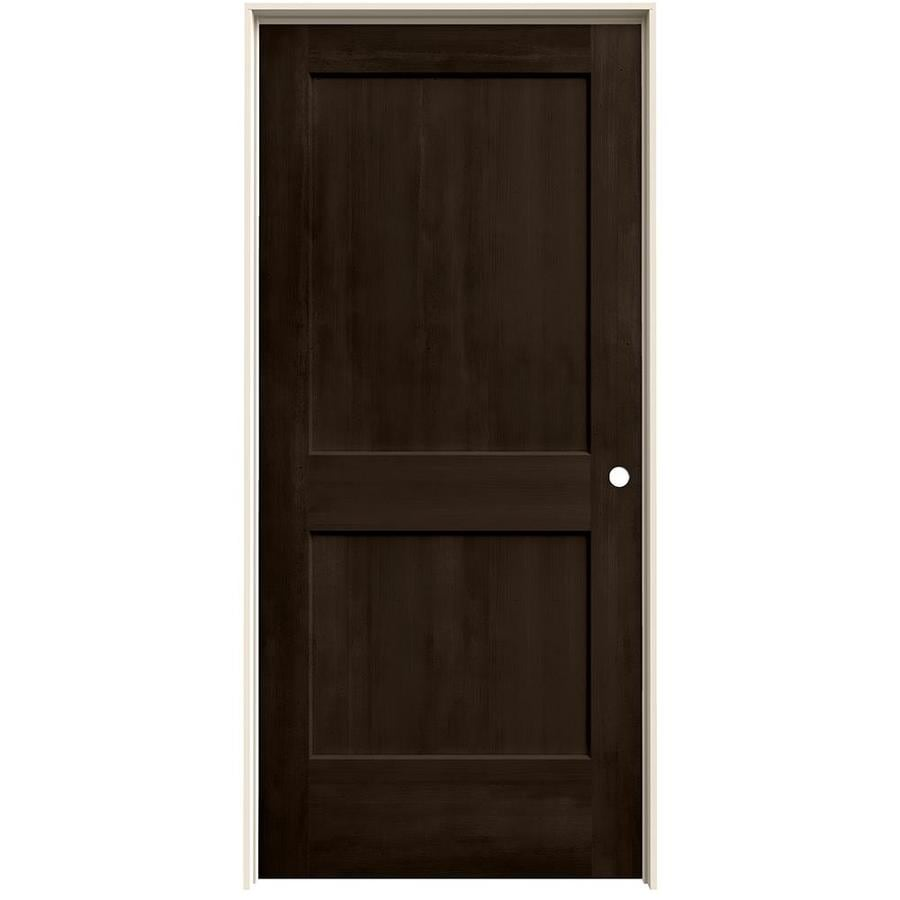 JELD-WEN Woodview Espresso 2-Panel Single Prehung Interior Door (Common: 36-in x 80-in; Actual: 37.562-in x 81.688-in)