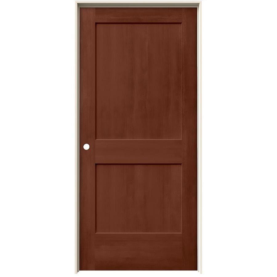 JELD-WEN Woodview Amaretto 2-Panel Single Prehung Interior Door (Common: 36-in x 80-in; Actual: 37.562-in x 81.688-in)
