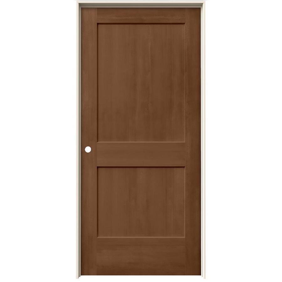 JELD-WEN Woodview Hazelnut 2-Panel Single Prehung Interior Door (Common: 36-in x 80-in; Actual: 37.562-in x 81.688-in)