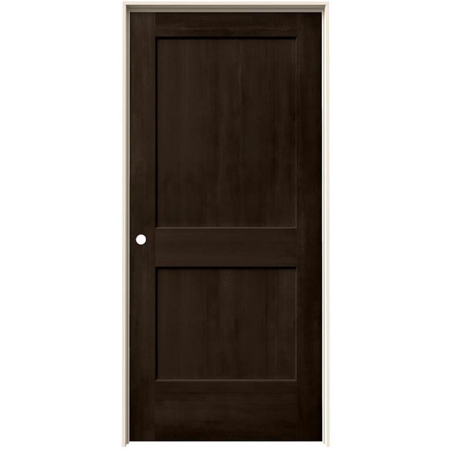 JELD-WEN View Espresso Hollow Core Molded Composite Single Prehung Interior Door (Common: 36-in x 80-in; Actual: 37.562-in x 81.688-in)