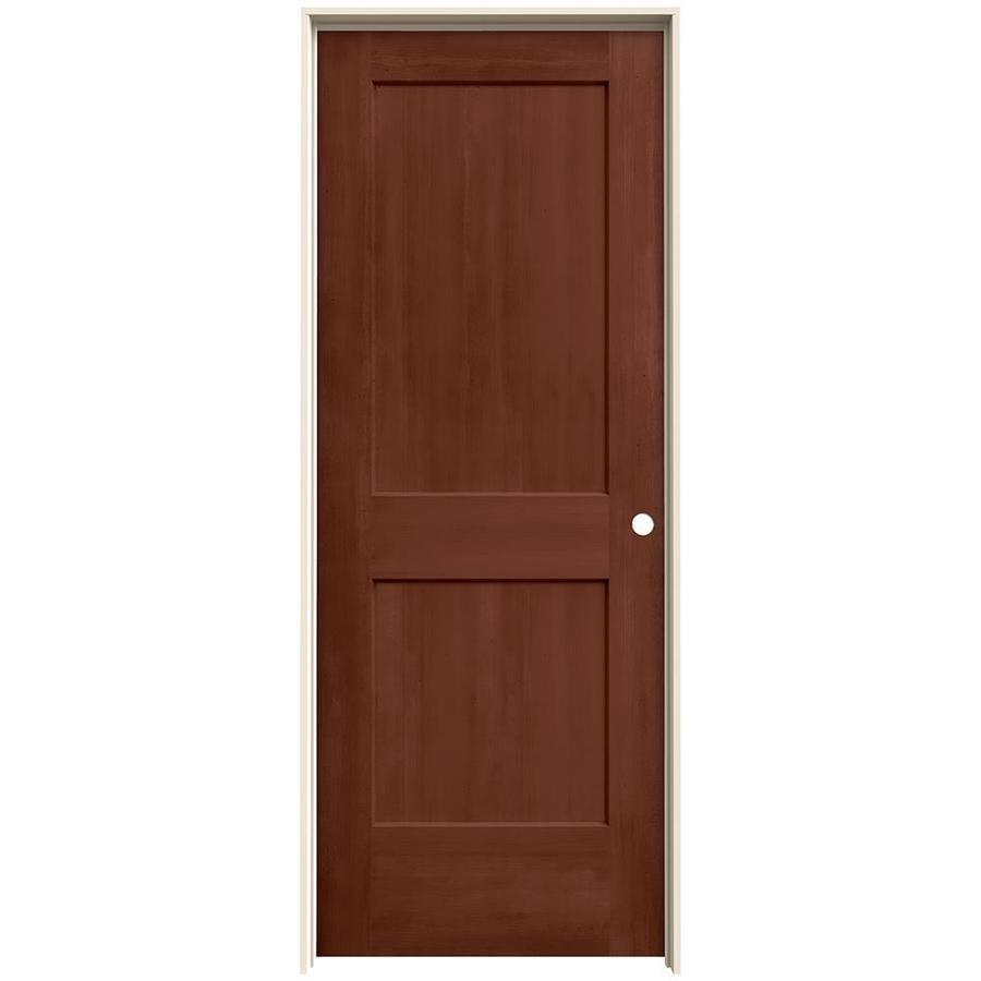 JELD-WEN View Amaretto Solid Core Molded Composite Single Prehung Interior Door (Common: 30-in x 80-in; Actual: 31.562-in x 81.688-in)