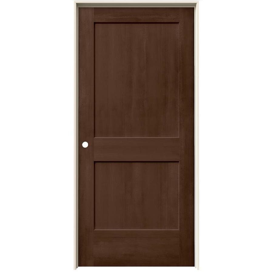 JELD-WEN View Milk Chocolate Solid Core Molded Composite Single Prehung Interior Door (Common: 36-in x 80-in; Actual: 37.562-in x 81.688-in)