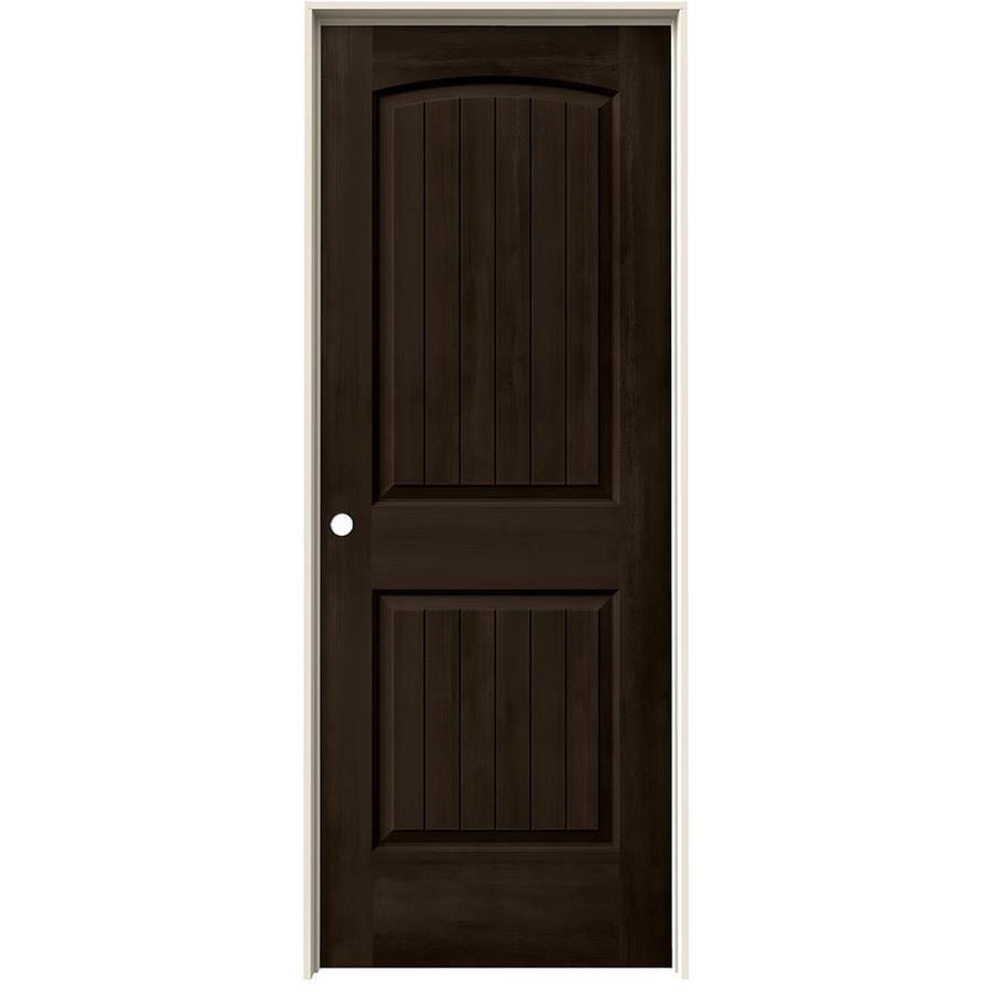 JELD-WEN View Espresso Hollow Core Molded Composite Single Prehung Interior Door (Common: 32-in x 80-in; Actual: 33.562-in x 81.688-in)