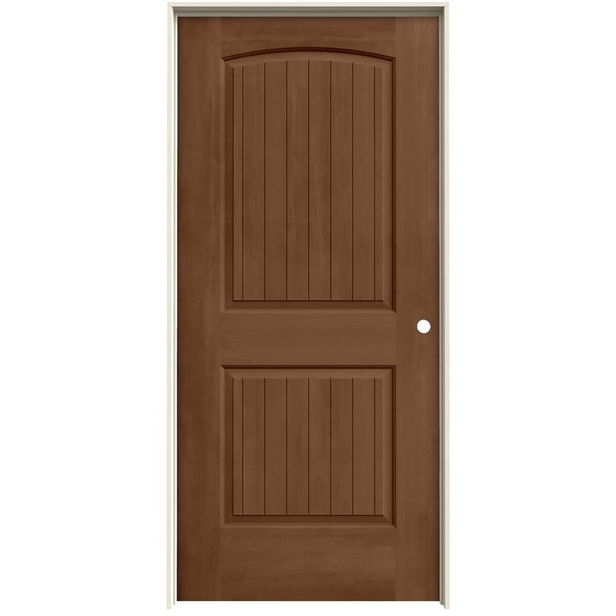 Jeld Wen Santa Fe Hazlenut 2 Panel Round Top Plank Hollow