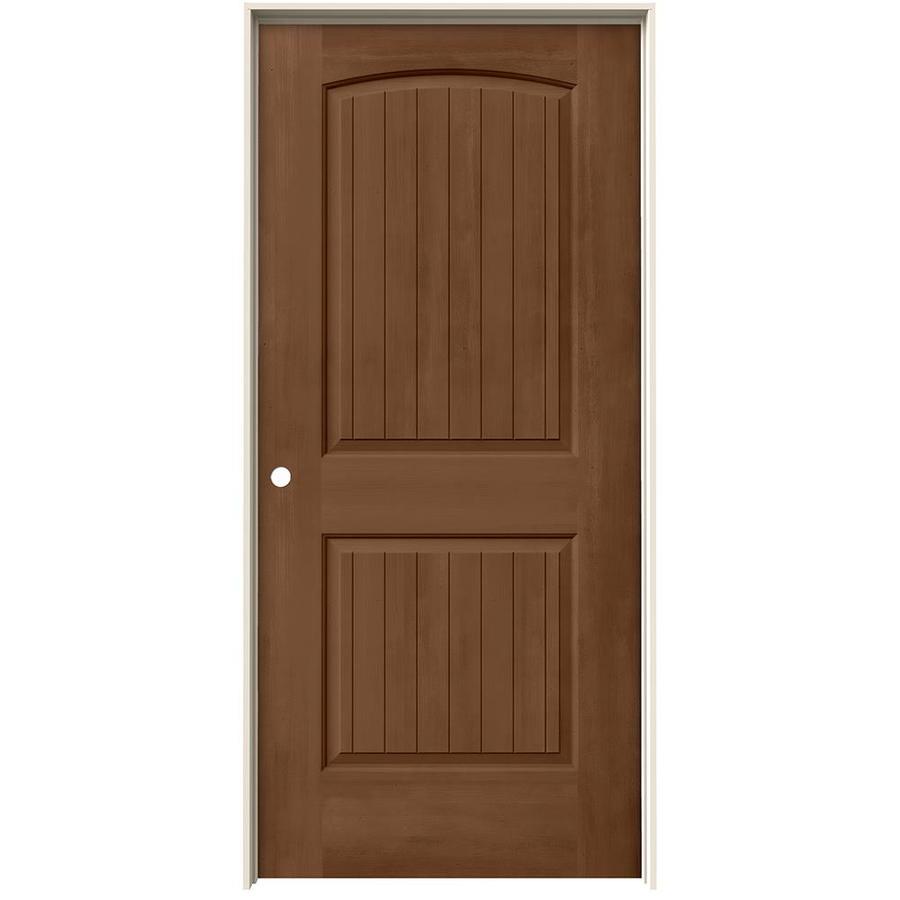 JELD-WEN View Hazelnut Hollow Core Molded Composite Single Prehung Interior Door (Common: 36-in x 80-in; Actual: 37.562-in x 81.688-in)