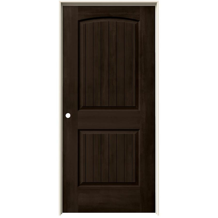 Shop Jeld Wen View Espresso Hollow Core Molded Composite Single Prehung Interior Door Common