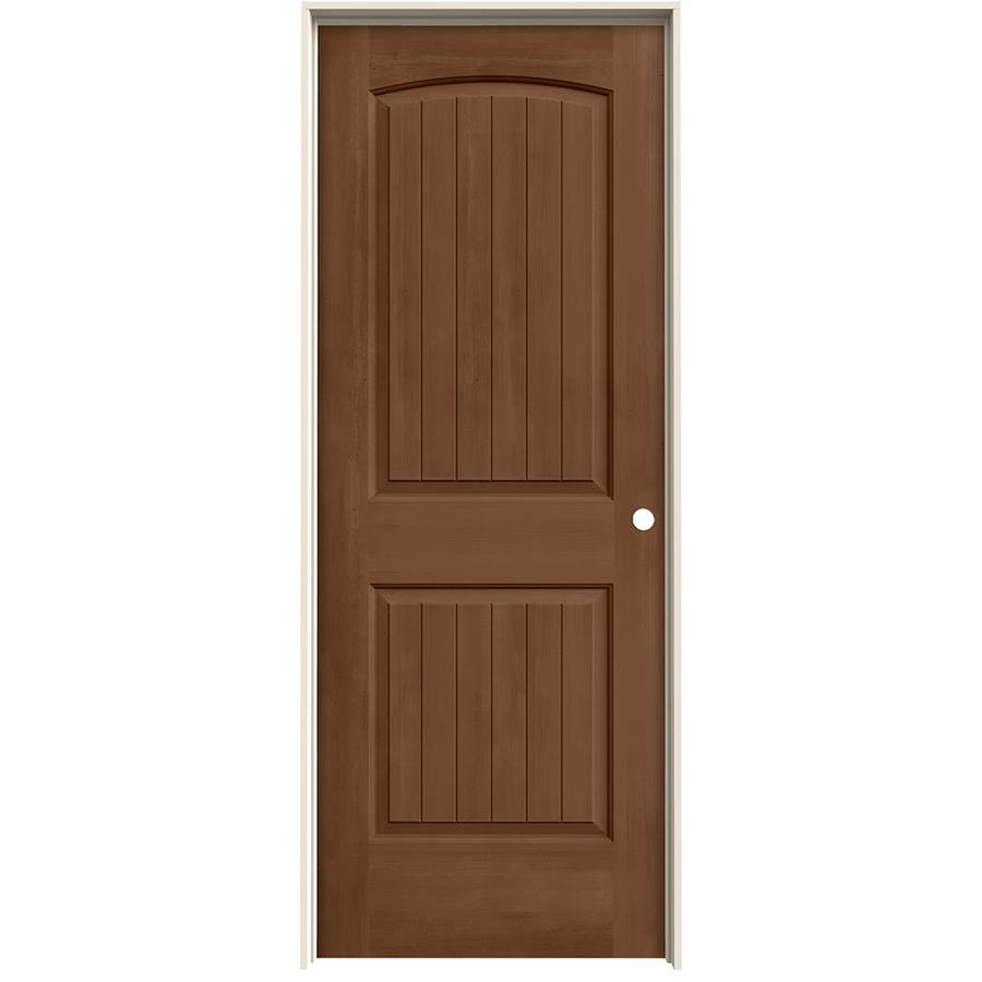 JELD-WEN View Hazelnut Solid Core Molded Composite Single Prehung Interior Door (Common: 24-in x 80-in; Actual: 25.562-in x 81.688-in)