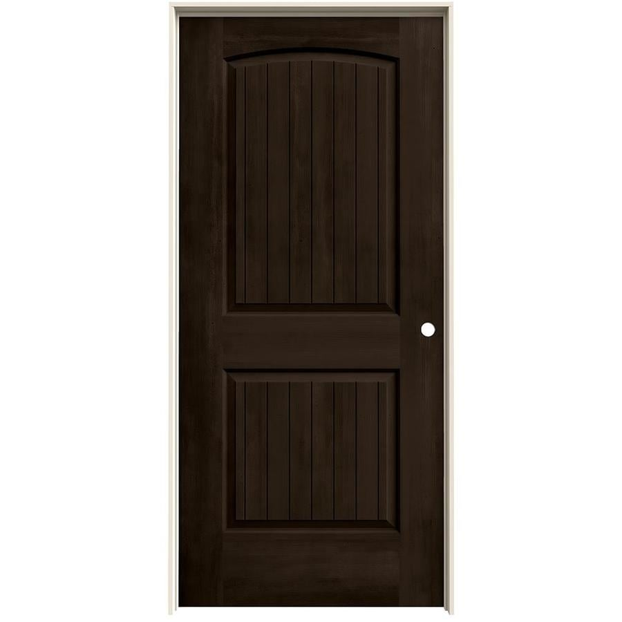 JELD-WEN View Espresso Solid Core Molded Composite Single Prehung Interior Door (Common: 36-in x 80-in; Actual: 37.562-in x 81.688-in)