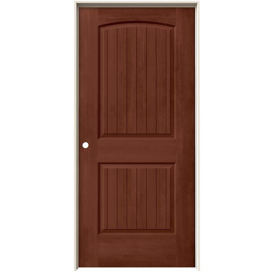 JELD-WEN View Amaretto Solid Core Molded Composite Single Prehung Interior Door (Common: 36-in x 80-in; Actual: 37.562-in x 81.688-in)