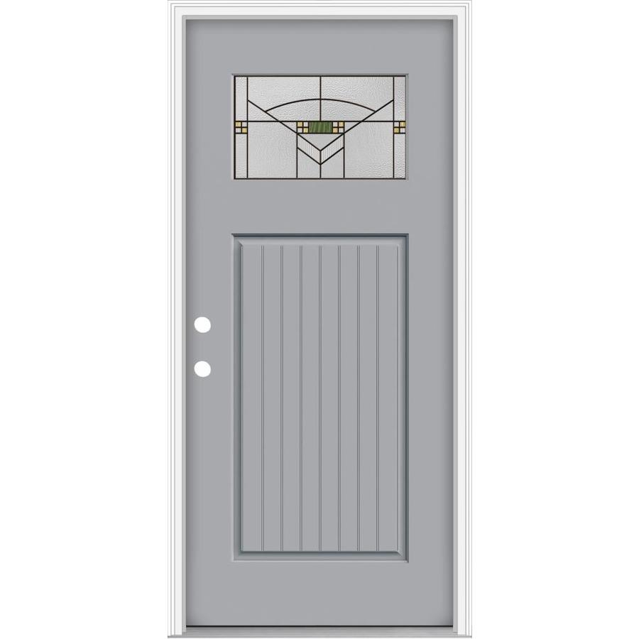 Shop Jeld Wen Decorative Glass Right Hand Inswing Infinity Grey