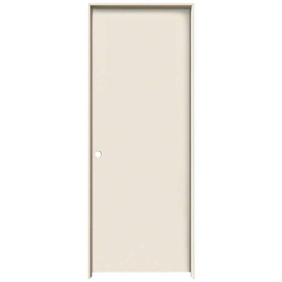 JELD WEN Primed Hollow Core Hardboard Single Prehung Interior Door (Common:  28