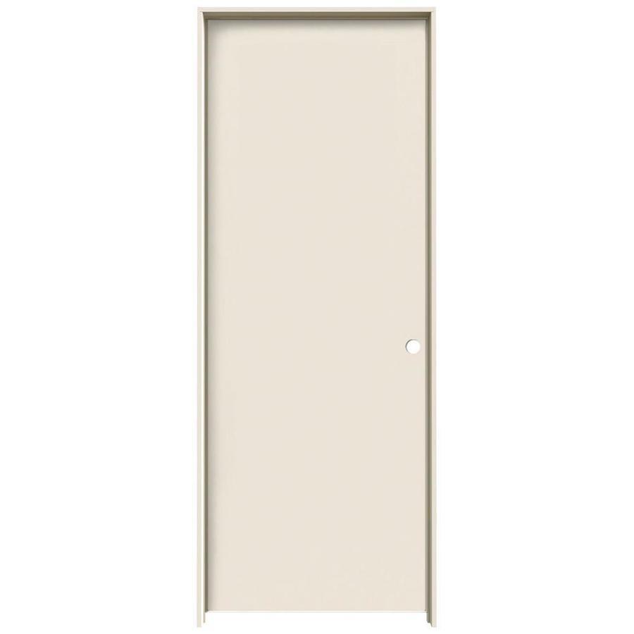 JELD-WEN Primed Hollow Core Hardboard Single Prehung Interior Door (Common 30-  sc 1 st  Lowe\u0027s & Shop JELD-WEN Primed Hollow Core Hardboard Single Prehung Interior ...