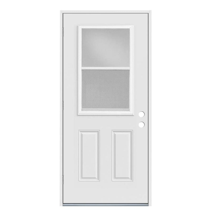 Jeld Wen Half Lite Clear Glass Right Hand Outswing Primed