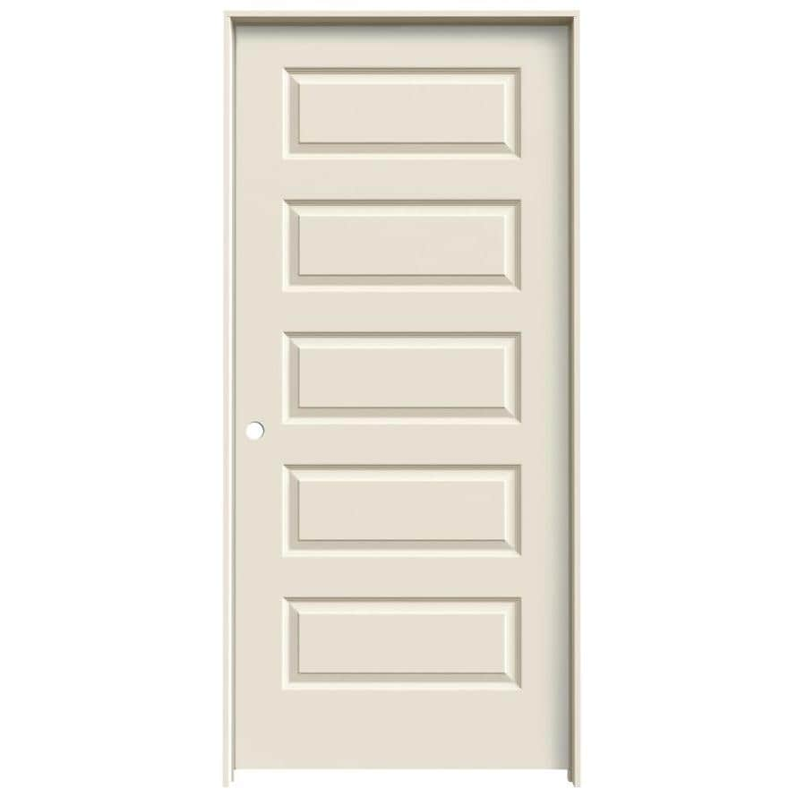 Reliabilt Rockport Primed 5 Panel Equal Hollow Core Molded Composite Single Pre Hung Door Common 32 In X 80 Actual 33 562 81 688