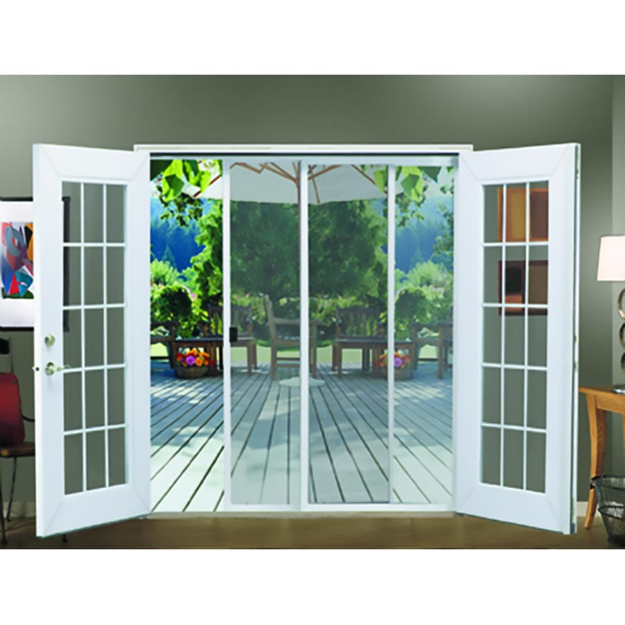 JELD WEN Aluminum Sliding French Screen Door (Common: 72 In X 80