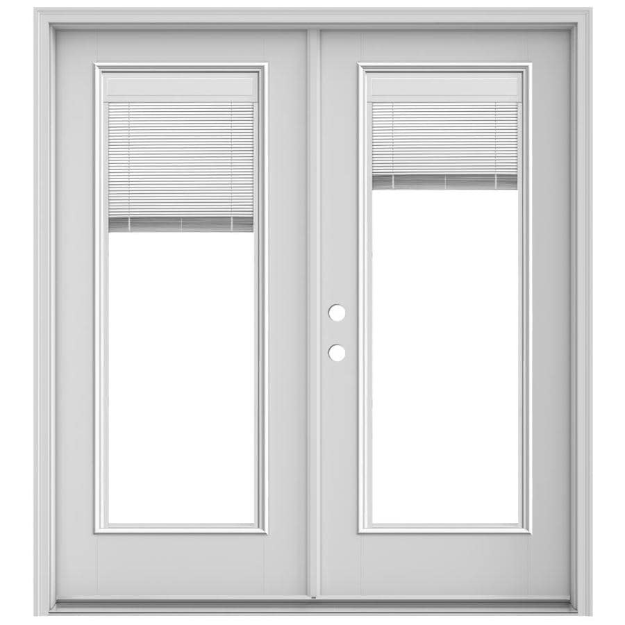 Shop Jeld Wen 715 In X 795 In Blinds Between The Glass Right Hand