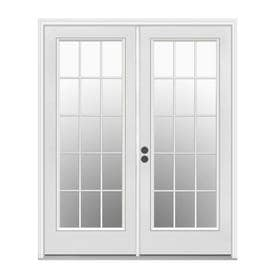 JELD-WEN 59.5-in x 79.5-in Simulated Divided Right-Hand Inswing  sc 1 st  Loweu0027s & Shop Patio Doors at Lowes.com