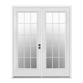 Jeld Wen Simulated Divided Light Primed Steel French Patio Door With Insulating Core Common