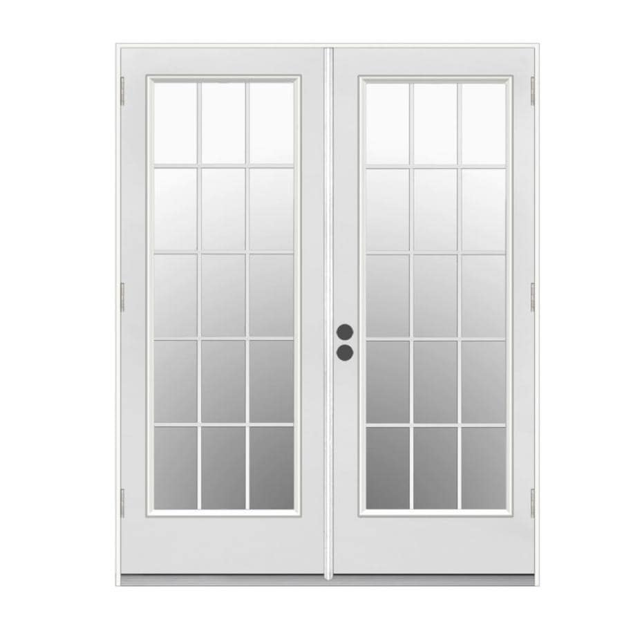 Shop JELD-WEN 59.5-in x 79.5-in Simulated Divided Left-Hand Outswing ...