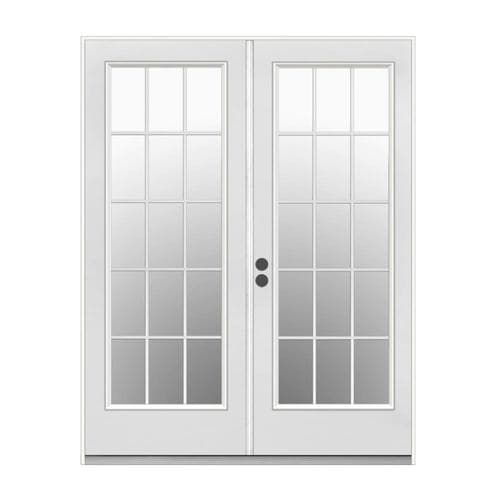 Jeld Wen 71 5 In 15 Lite Glass Primer White Steel French