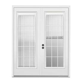 JELD WEN Blinds Between The Glass Primed Steel French Patio Door With  Insulating Core (