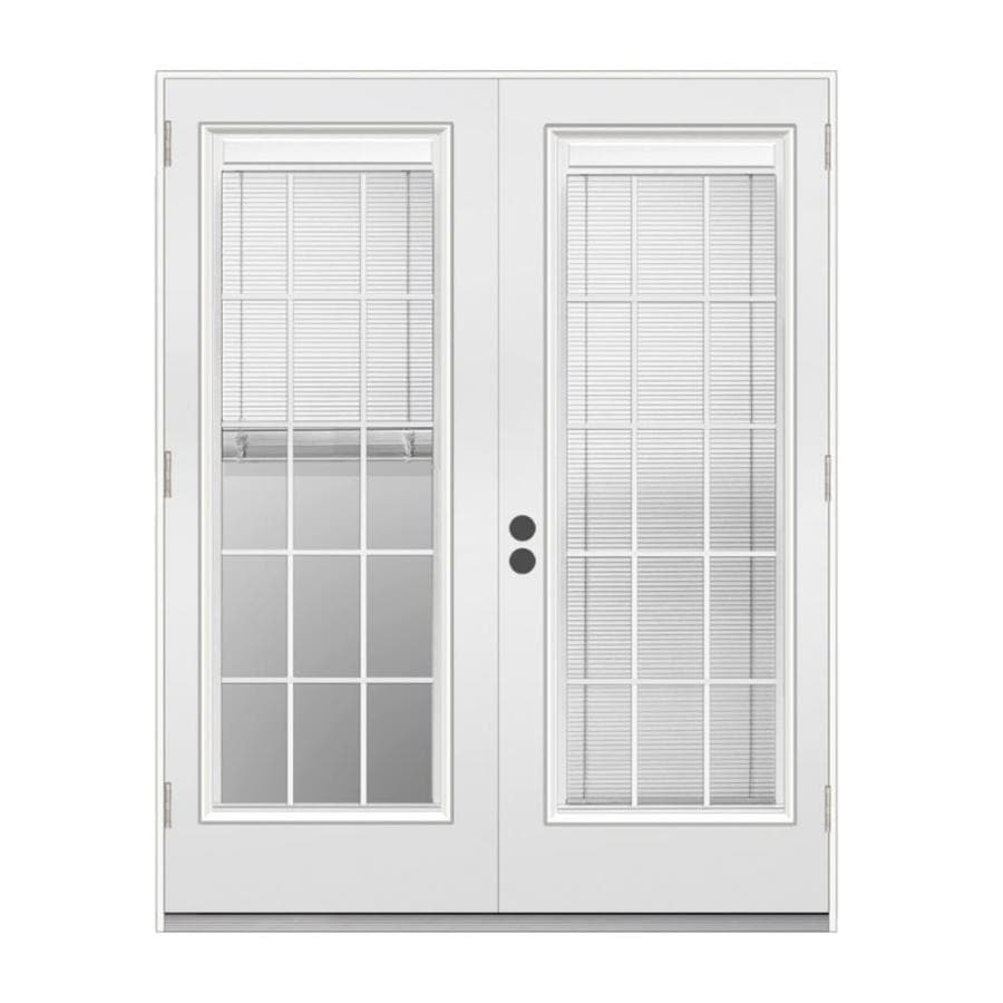 French Exterior Doors Steel: JELD-WEN Blinds Between The Glass Primed Steel Left-Hand
