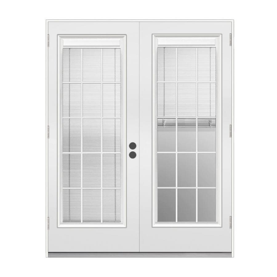 French Exterior Doors Steel: JELD-WEN Blinds Between The Glass Primed Steel Right-Hand