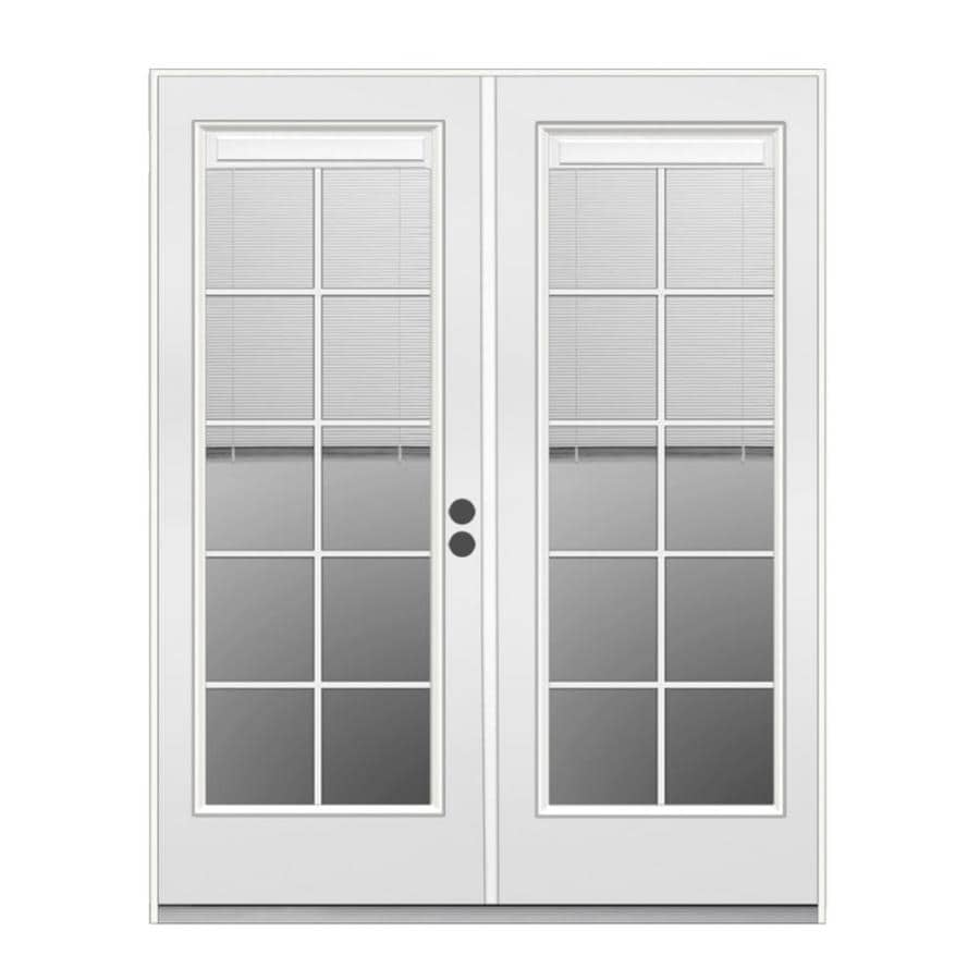 Jeld Wen French Blinds Between The Glass Primed Steel Patio Door