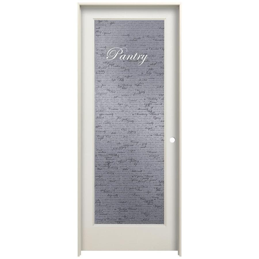 Jeld Wen 1501 Recipe Pantry Primed Frosted Glass Wood Pine