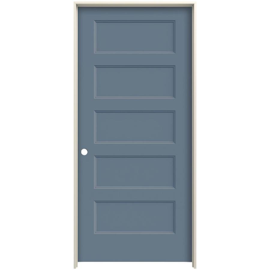 Jeld Wen Conmore Colony 5 Panel Flat Hollow Core Molded Composite Pre Hung Door Common 32 In X 80 Actual 33 5625 81 6875