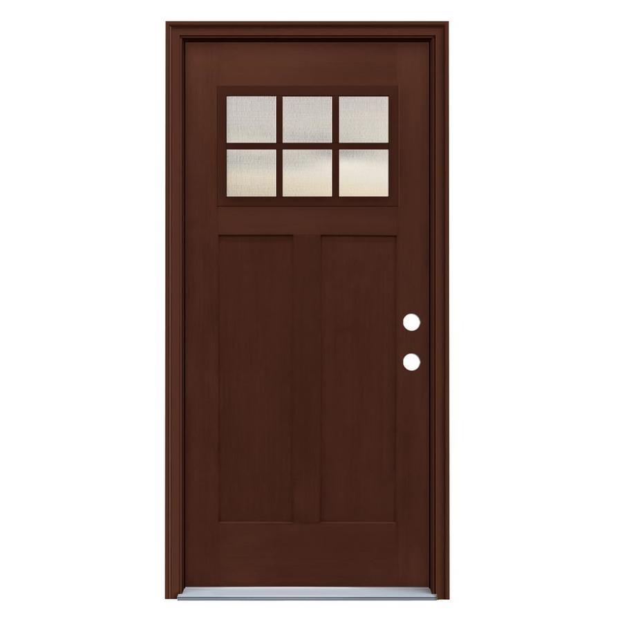 Jeld wen craftsman simulated divided light left hand - Jeld wen fiberglass exterior doors ...