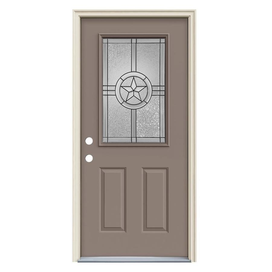 Mobile Home Replacement Doors Exterior: JELD-WEN Radiant Star Half Lite Decorative Glass Right