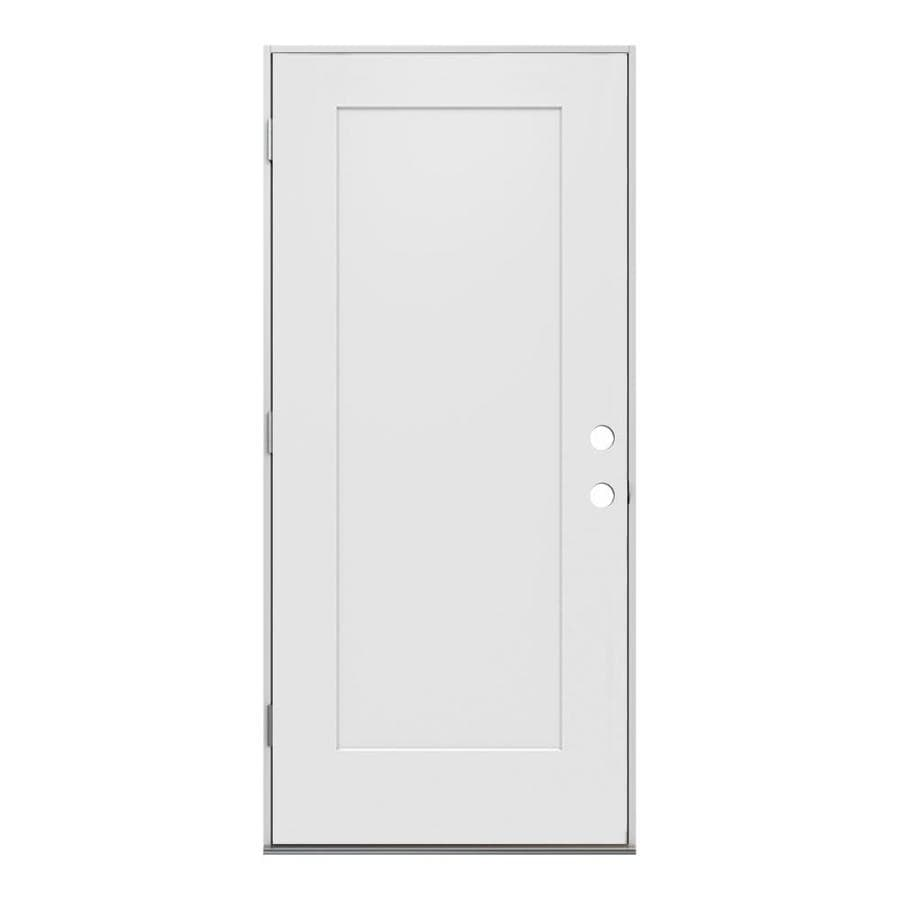 Merveilleux JELD WEN Right Hand Outswing Primed Steel Prehung Entry Door With  Insulating Core (