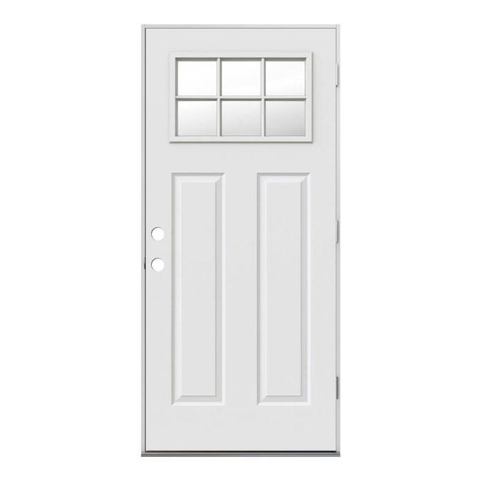 Jeld Wen 36 In X 80 In Steel Craftsman Left Hand Outswing Primed Prehung Single Front Door In The Front Doors Department At Lowes Com Shop online to find quality entry doors, interior doors, and exterior doors at low prices. jeld wen 36 in x 80 in steel craftsman
