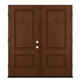 Merveilleux JELD WEN Milk Chocolate Fiberglass Mahogany Stained Entry Door (Common:  64.0x 80.0