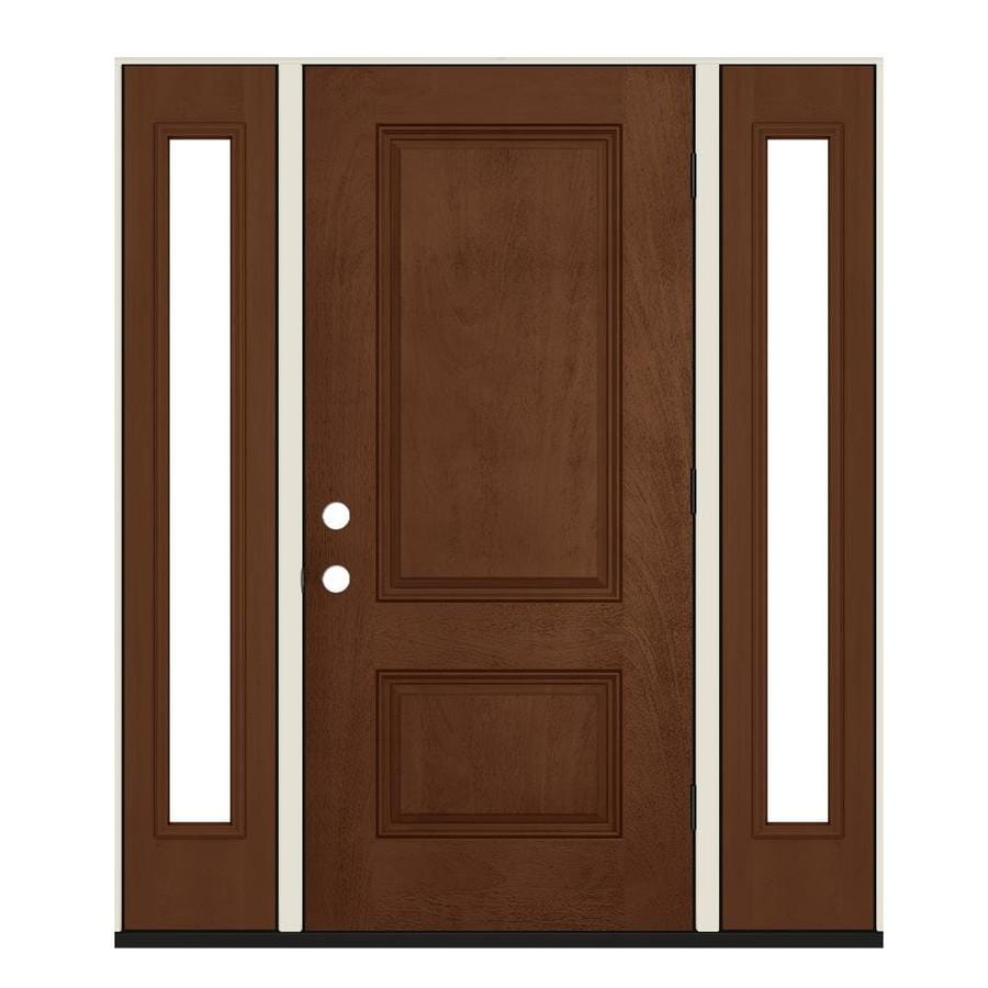 Jeld wen left hand outswing milk chocolate stained - Jeld wen exterior doors with sidelights ...