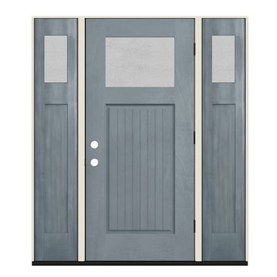 Fiberglass Privacy Glass Front Doors At Lowes Com Sidelights are narrow, usually stationary and found immediately adjacent doorways. fiberglass privacy glass front doors at