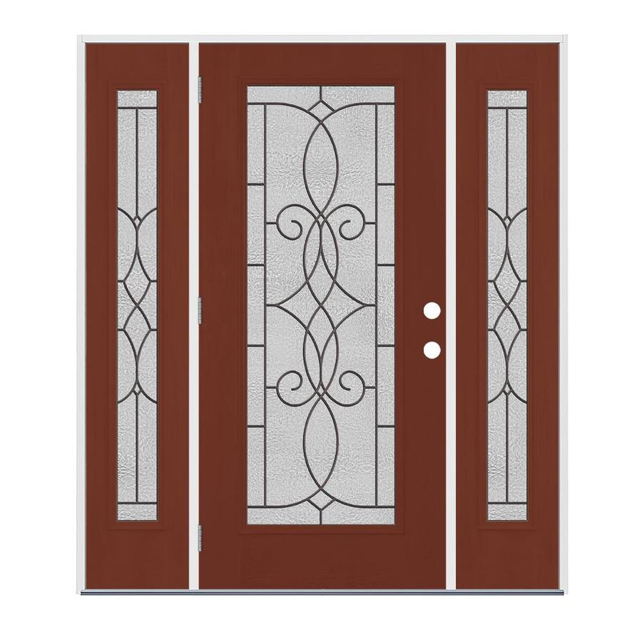 Jeld wen hampton full lite decorative glass right hand - Jeld wen exterior doors with sidelights ...