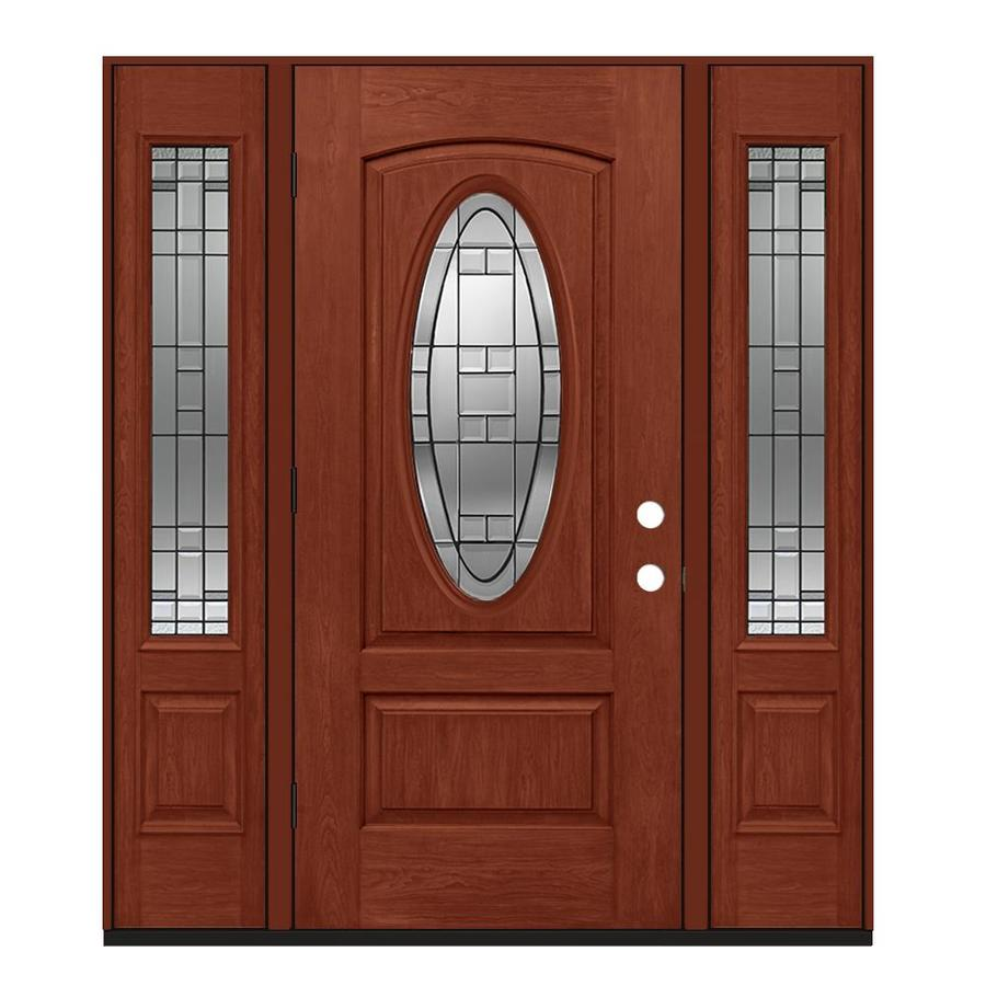 Jeld wen lexington oval lite decorative glass right hand - Jeld wen exterior doors with sidelights ...