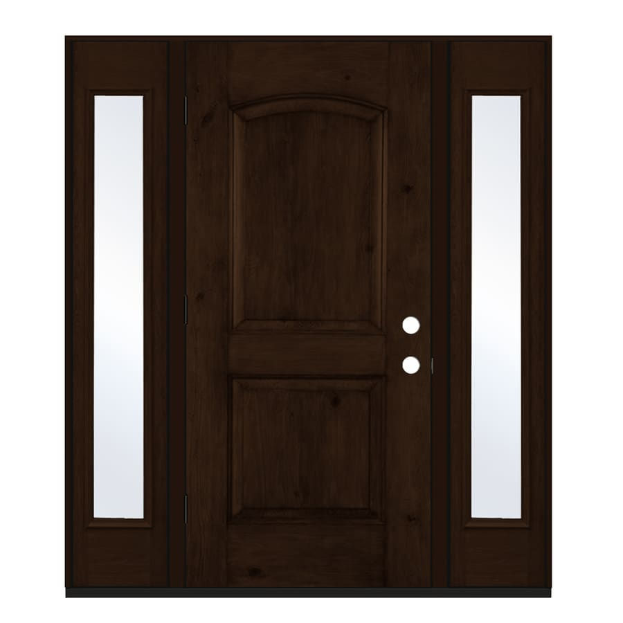 Jeld wen right hand outswing espresso stained fiberglass - Jeld wen exterior doors with sidelights ...