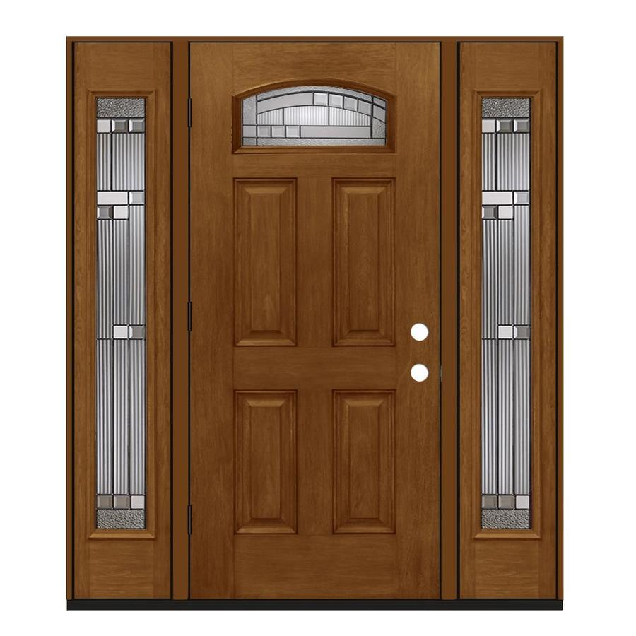 Jeld wen 1 4 lite decorative glass right hand outswing - Jeld wen exterior doors with sidelights ...