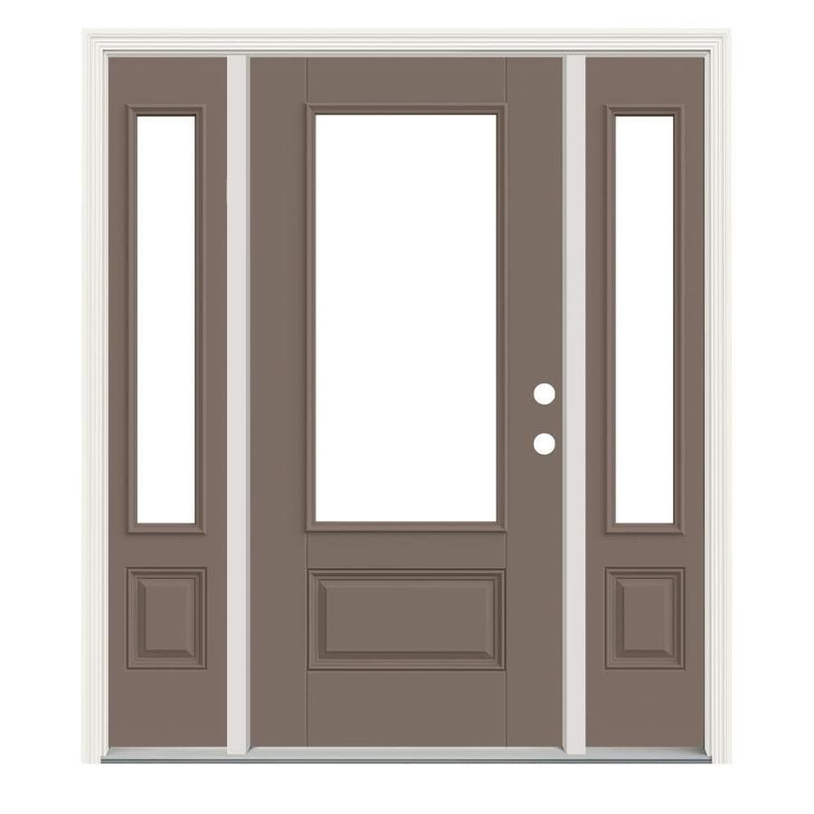Jeld wen 3 4 lite clear glass left hand inswing pottery - Jeld wen exterior doors with sidelights ...