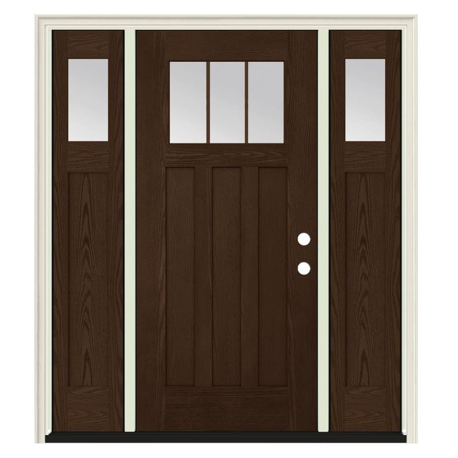 Jeld wen craftsman simulated divided light left hand - Jeld wen exterior doors with sidelights ...