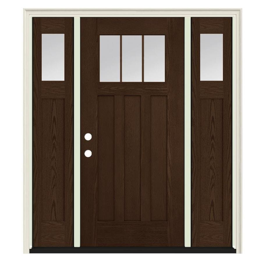 Jeld wen craftsman simulated divided light right hand - Jeld wen exterior doors with sidelights ...