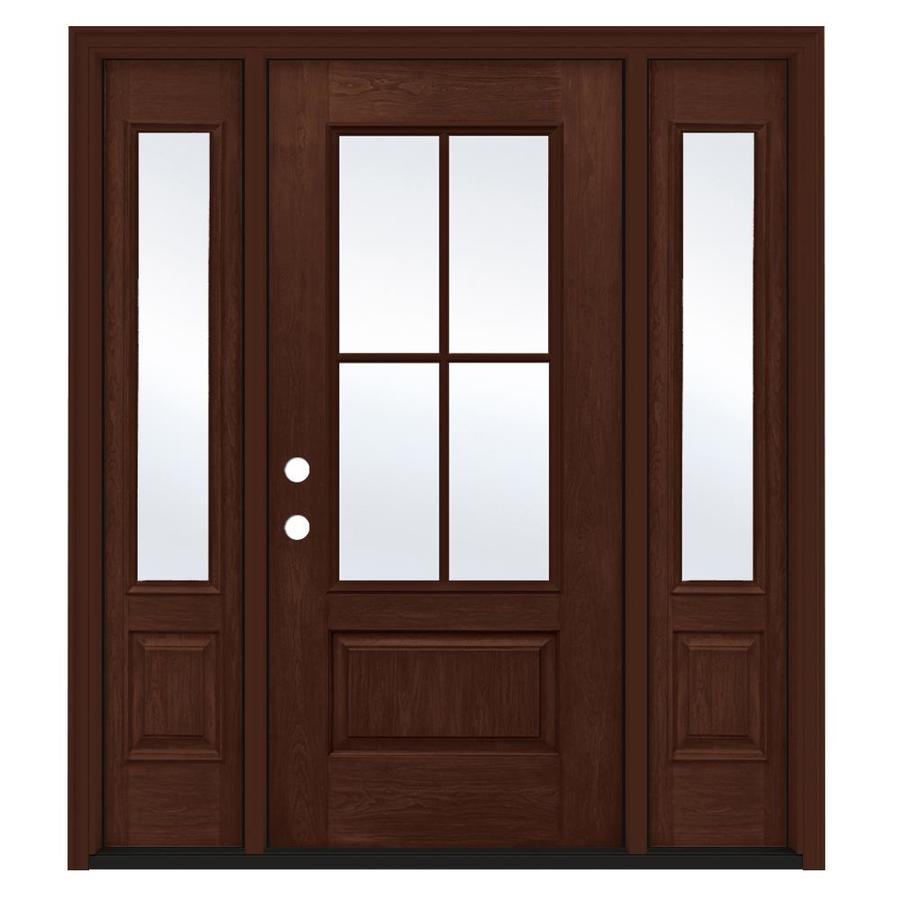 Jeld wen 3 4 lite simulated divided light right hand - Jeld wen exterior doors with sidelights ...